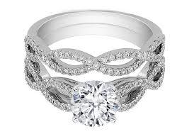 wedding ring bridal set engagement ring infinity bridal set engagement ring matching