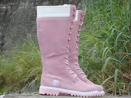 womens pink timberland boots sale timberland s 14 inch premium boots pink white shoes