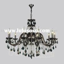 Small Black Chandelier Black Table Lamp With Hanging Crystals Best Inspiration For