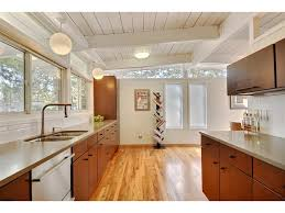 vaulted ceiling mid century modern google search home mid century modern kitchen