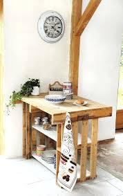 meuble de cuisine en palette meuble ilot cuisine rustique central palettes realise en