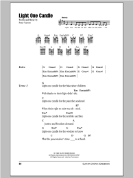 light of the world chords light one candle sheet music direct