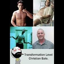 Christian Bale Meme - dopl3r com memes transformation level christian bale