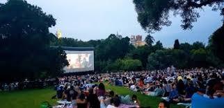 Botanical Gardens Open Air Cinema Open Air Cinema Stock Photo Image Of Open Outside Entertainment
