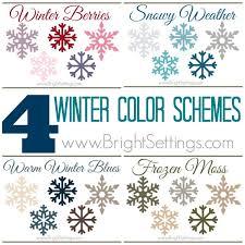 winter color schemes 4 winter color schemes the bright ideas blog