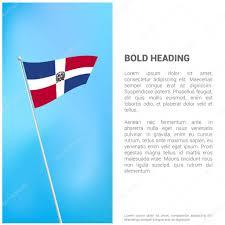 Dominican Republic Flags Dominican Republic Flag Brochure U2014 Stock Vector Ibrandify 103947000