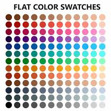 color swatches flat color swatches vector eps10 color swatch palette png and