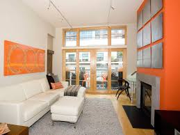 Brown And Orange Home Decor Alluring 40 Living Room With Orange Wall Accent Decorating Design