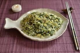 cuisine epinard recette de riz cantonais aux épinards ultra simple