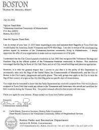 letter to nguyen thanh binh from the boston parks u0026 recreation