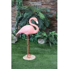 large flamingo statue standing outdoor living outdoor decor