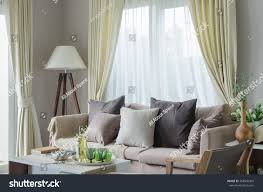 modern living room sofa white lamp stock photo 268540460