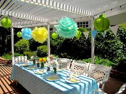 Baby Showers Decorations by Outdoor Baby Shower Decorations With Burlap And Flowers U2014 Office