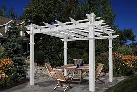 Pergola Plastic Roof by Amazon Com Venetian 10 U0027 X 10 U0027 Vinyl Pergola Gazebos Patio