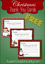 free printable christmas thank you cards for kids free