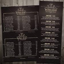 bar menu template drink menu template 25 free psd eps documents