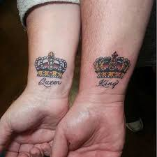 tattoo couple king and queen 40 king and queen tattoos for lovers that kick ass