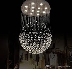 Ball Chandelier Lights Spherical Ball Chandelier Crystal Lamp Living Room Lamp White Led
