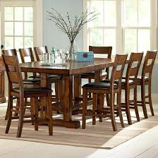 9 Piece Dining Room Sets White Counter Height Kitchen Table And Chairs Counter Height