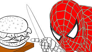 spiderman coloring pages for kids how to color spiderman and