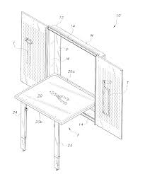 Wall Mounted Folding Table Patent Us20130000525 Wall Mounted Folding Table Google Patents