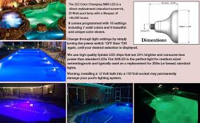 How To Replace Pool Light Amazon Com 20w 252leds Replacement Color Changing Led Swimming