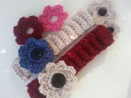 crochet flower headband pattern crochet flower headband with 3 different types of flowers