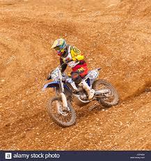 motocross bike motocross bike scrambler on a uk track stock photo royalty free