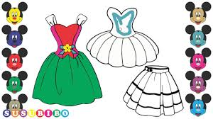 coloring pages dresses how to draw clothes for girls youtube