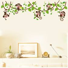 Nursery Monkey Wall Decals Compare Prices On Monkey Nursery Online Shopping Buy Low