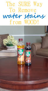 how to remove water stains from wood household tips