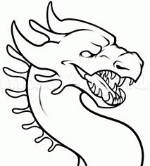 simple pictures for drawing how to draw a simple dragon head step