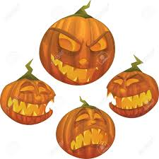 happy halloween pumpkin clipart halloween pumpkin character with different face expressions