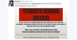 nau students issue u201clist of demands u201d nautakeover arizona daily