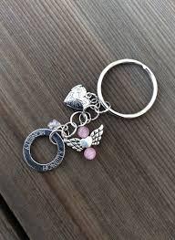 inspirational keychains keychain guardian angel keychain hearts and charms handmade