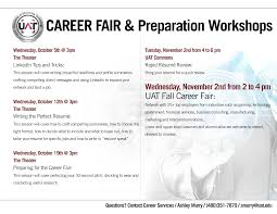 Job Fair Cover Letter by Prepare For The Fall Career Fair Uat Tech Official Blog Of The