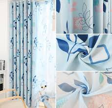Bright Colored Curtains Leaf Insulated Heat Blocking Bright Colored Curtains