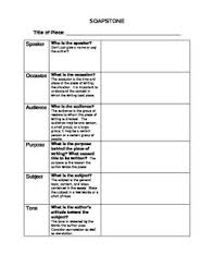 Soapstone Analysis Example Soapstone Template 28 Images Helmling Richard Class Schedule