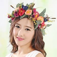 flower headpiece new flower crown for women and girl kids wreath