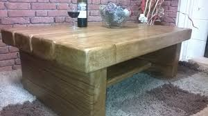 coffee table with shelf 3