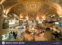 the famous mural paintings of the lower level food court of the