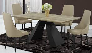 global furniture dining room sets dining table in khaki u0026 black by global w optional chairs