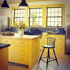blue kitchen cabinets and yellow walls 26 yellow kitchen ideas that make the sun shine indoors