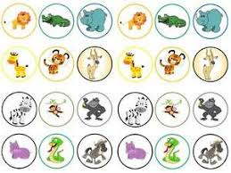 safari cake toppers 24 zoo animals safari kids cake cupcake toppers
