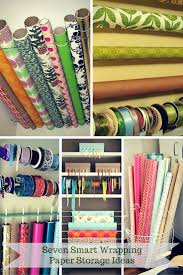 seven smart wrapping paper storage ideas scraplifters