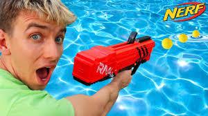 nerf gun jeep nerf gun vs water youtube