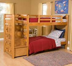 Bunk Bed Plans With Stairs Bunk Bed With Stairs And Drawers Bedroom Ideas And