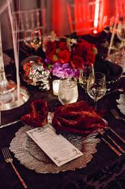 halloween tablecloth a chic and sophisticated halloween themed wedding inside weddings