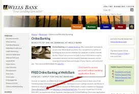 wells bank online banking login cc bank