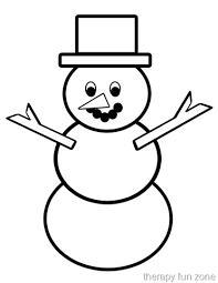 scissor cutting snow man template therapy fun zone